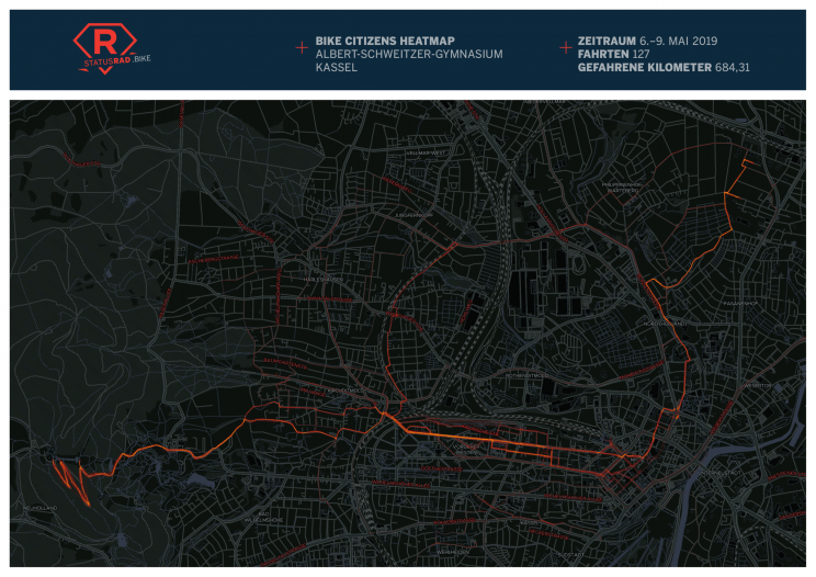 StatusRad Heatmap Kassel